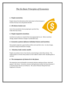 The Six Basic Principles of Economics