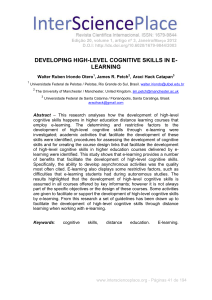developing high-level cognitive skills in e