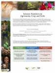 Science Frontiers in Agronomy, Crop and Soils
