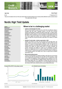 Nordic High Yield Update