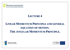 lecture 4 linear momentum principle and general equation of