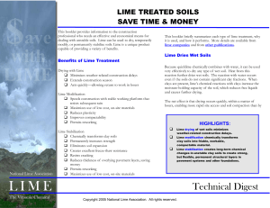 Technical Digest - The National Lime Association