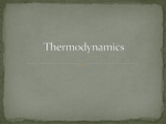 Thermodynamics–Honors
