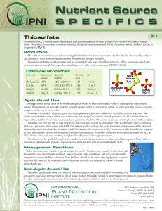 Thiosulfate - International Plant Nutrition Institute