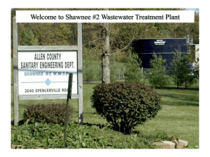 Welcome to Shawnee #2 Wastewater Treatment Plant