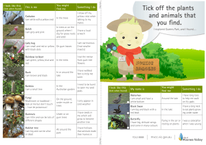 guide to help kids find the plants and animals