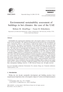 Environmental sustainability assessment of buildings in hot climates