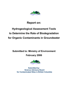 Report on: - Science Advisory Board for Contaminated Sites in