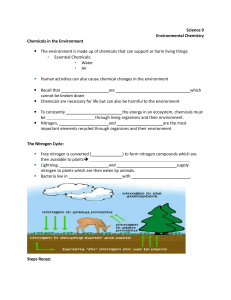 Science 9 Environmental Chemistry Chemicals in the Environment