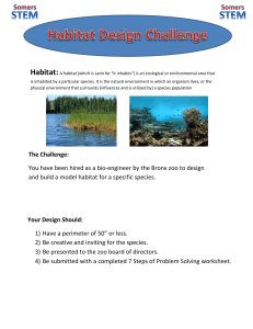 Animal and Habitat Design Challenge
