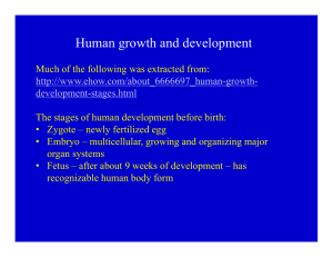 Human growth and development g p