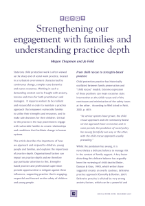 Strengthening our engagement with families and