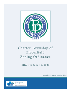 Bloomfield Township Zoning Ordinance