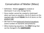 Conservation of Matter (Mass)