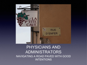 physicians and administrators