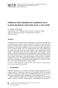 Sediment load estimation in combined sewer systems