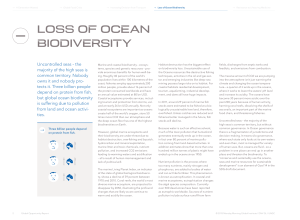 loss of ocean biodiversity - Global Opportunity Network