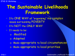 The Sustainable Livelihoods Framework