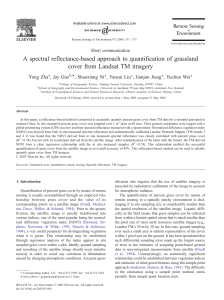 A spectral reflectance-based approach to quantification of grassland