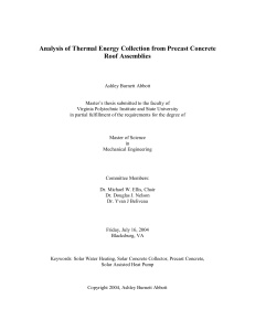 Analysis of Thermal Energy Collection from Precast Concrete Roof