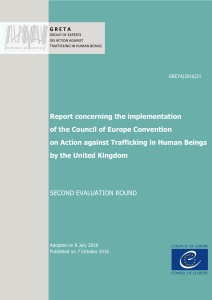 Report concerning the implementation of the Council of Europe