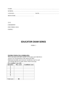 educator exam series