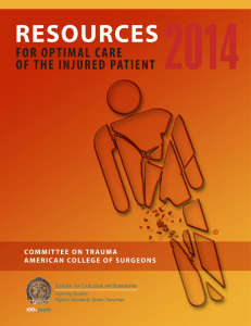 Resources for Optimal Care of the the Injured Patient 2014