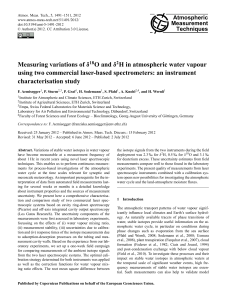 Measuring variations of δ18O and δ2H in atmospheric water vapour