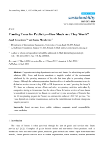 Planting Trees for Publicity—How Much Are They Worth?