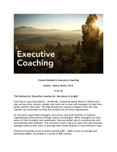 Future Outlook in Executive Coaching
