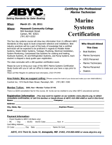 Marine Systems Certification