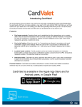 CardValet is available in the Apple App Store and for