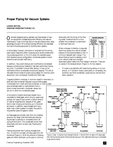 Proper Piping for Vacuum Systems