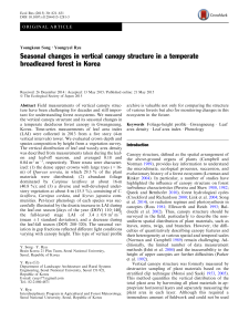 Seasonal changes in vertical canopy structure in a