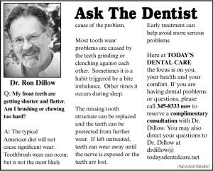 Ask The Dentist - Today`s Dental Care