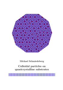 Colloidal particles on quasicrystalline substrates