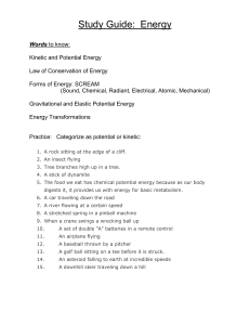 Study Guide: Energy