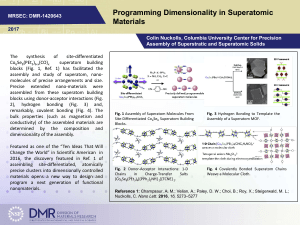 Programming Dimensionality in Superatomic Materials
