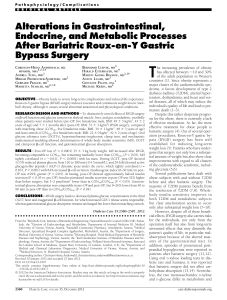 Alterations in Gastrointestinal, Endocrine, and Metabolic Processes