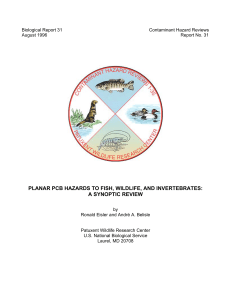 Planar PCB Hazards to Fish, Wildlife, and Invertebrates: a - CLU-IN