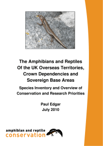Amphibians and Reptiles of the UK OTs, CDs and SBAs: Species