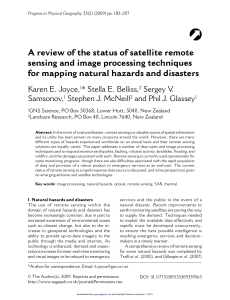 A review of the status of satellite remote sensing and image