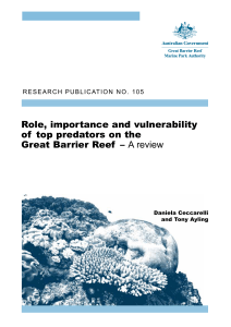 Role, importance and vulnerability of top predators on the Great