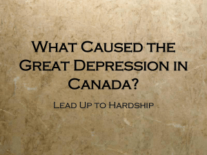 What Caused the Great Depression in Canada?