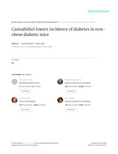 Cannabidiol lowers incidence of diabetes in non - Alpha-CAT
