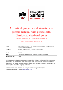 Acoustical properties of air-saturated porous material with