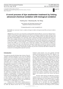 A novel process of dye wastewater treatment by linking advanced