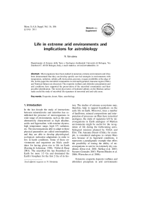 Life in extreme arid environments and implications for astrobiology