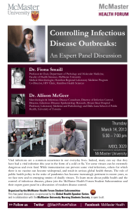 Controlling Incections Disease Outbreaks: An Expert Panel