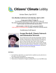 CCL Monthly Conference Call, Saturday, April 4, 2015